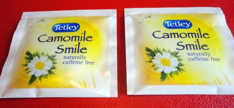 Two camomile tea bags