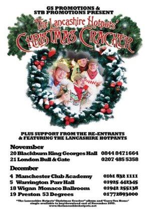 Lancashire Hotpots poster for Christmas tour 2011