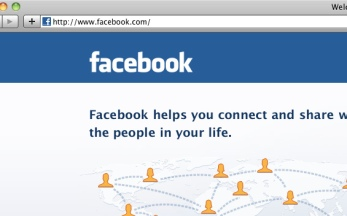 Facebook login screen shot