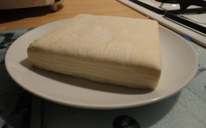Frozen puff pastry defrosting