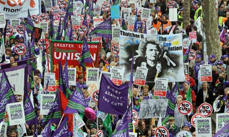 Union Banners in a March