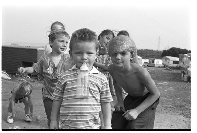 Travellers on the Glen Road, Belfast, 1980. Photo: Bobbie Hanvey