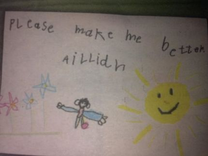 Picture drawn by Aillidh, a young sufferer of leukemia