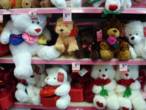 lots of valentines teddy bears