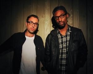 The Knocks posing against a wall to promote Midnight City