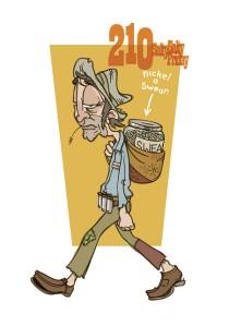 Cartoon old fashioned tramp.  Photo: dutchb0y