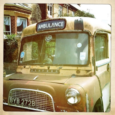 Vintage NHS Ambulance.  Photo: David/Schofield