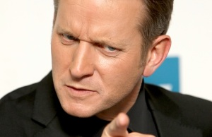 Jeremy Kyle Pointing and looking annoyed