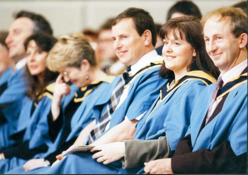 Open University students graduating from the MBA programme