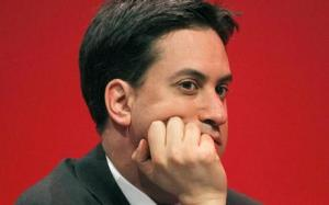 Ed Milliband looking really fed up, in the run up to the local elections 2012