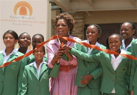Oprah Winfrey opening her leadership academy for girls in South Africa