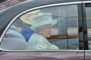 Her Majesty Queen Elizabeth II en route to St Paul's Cathedral, 5th June 2012. Photo: Defence Images